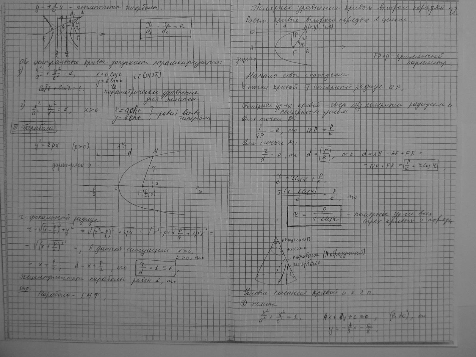 Привести уравнение параболы к каноническому виду онлайн 16 фотография